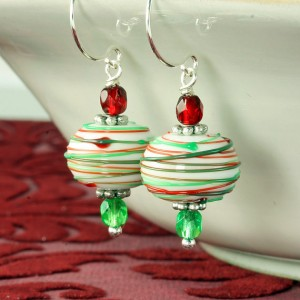 Christmas Jewelry Gift Ideas Peppermint Earrings