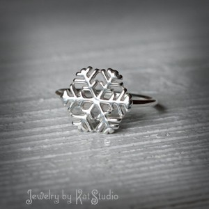 Christmas Jewelry Gift Ideas Snowflake Ring
