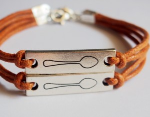 Matching Couple Bracelets - Identical Spoons