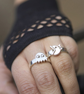 Pacman Jewelry 2b - Pacman Rings