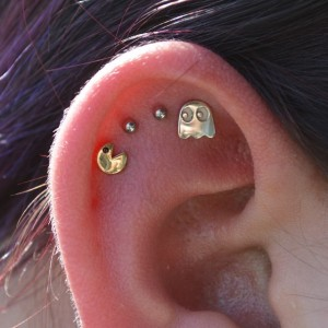 Pac-man Jewelry 3 - Pacman Piercing